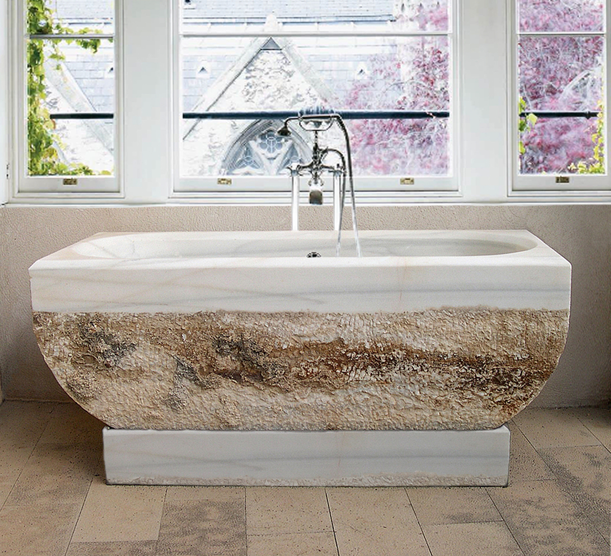Stone Bathtubs By Ancient Surfaces Hand Carved Out Of