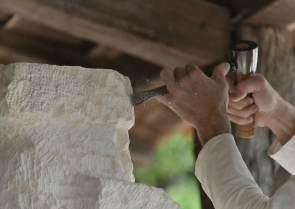 Hand Carving a Custom Stone Tub