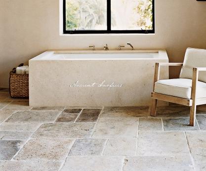 A Modern Limestone Tub