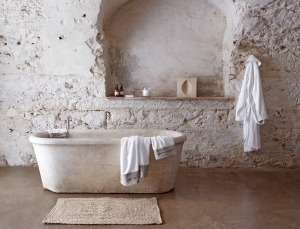 A Wabi Sabi Bath Tub by Ancient Surfaces