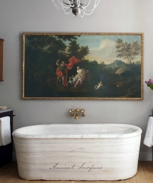 An Antique Hand Carved Marble Bath Tub