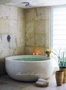 Custom Stone Rounded Bathtub