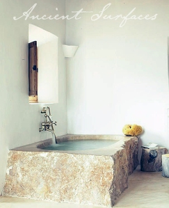 Solid Limestone Block Bath Tub
