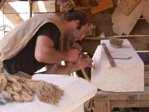 Hand Carving a Custom Stone Tub